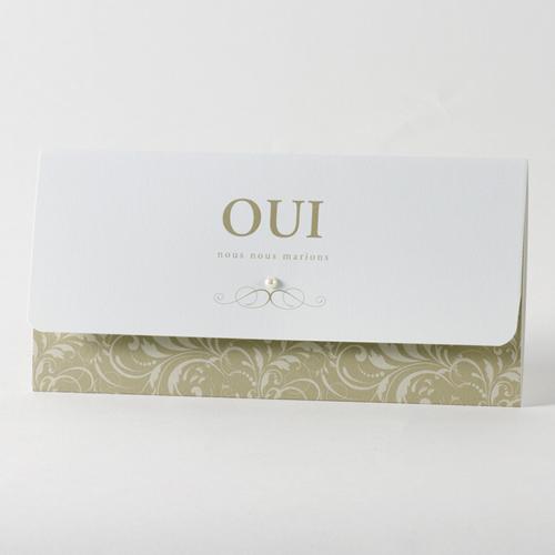 Faire-Part Mariage Traditionnel - Pochette de luxe 45738