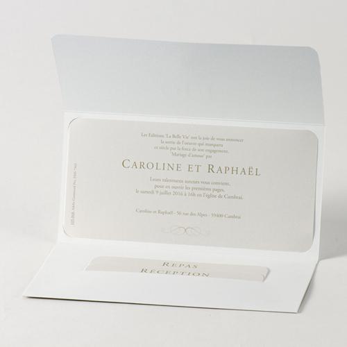 Faire-Part Mariage Traditionnel - Pochette de luxe 45740 preview