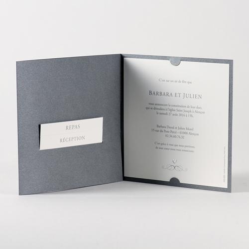 Faire-Part Mariage Traditionnel - Coeur raffiné 45760 preview