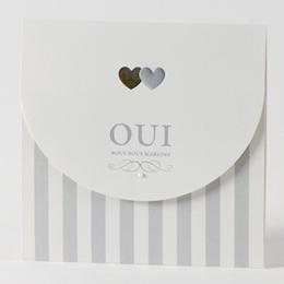 Faire-Part Mariage Traditionnel - Argenture perlé - 0