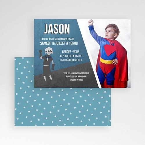 Invitations Anniversaire Garçon - Super anniversaire 45794 preview