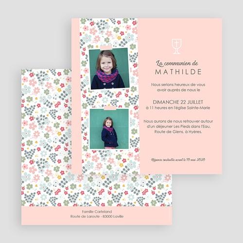 Faire-part Communion Fille - Floralies 45813 thumb