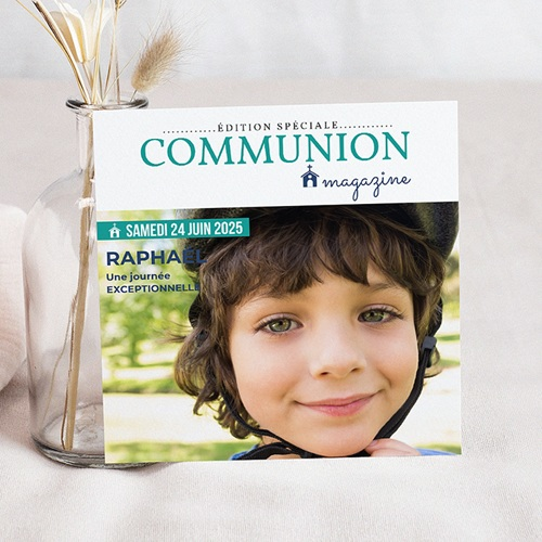 Faire-part Communion Garçon - Communion Magazine 45850