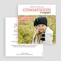 Faire-part communion fille Gazette Communion gratuit