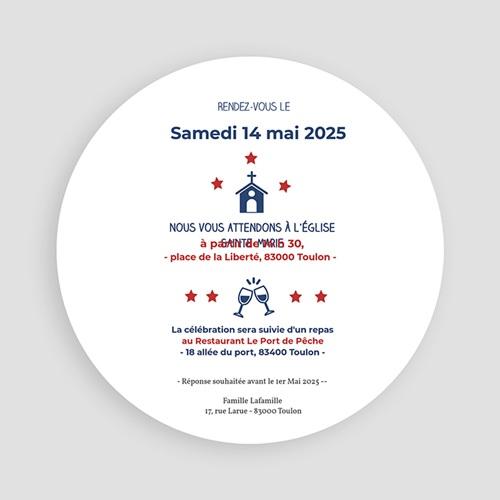 Carte Invitation Confirmation Ronde d'étoiles pas cher