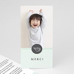 Carte remerciement communion garçon L'envolée bleue