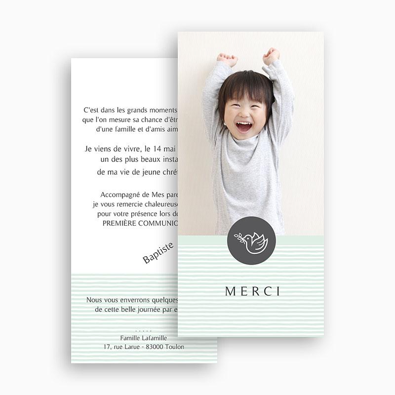 Remerciements Communion Garçon - L'envolée bleue 45875 thumb
