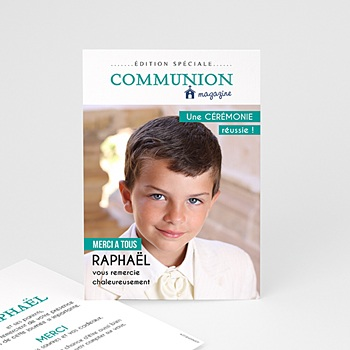 Diy carte remerciement communion originale