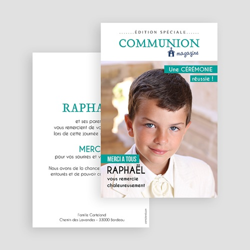 Remerciements Communion Garçon - Magazine Communion 45884 preview