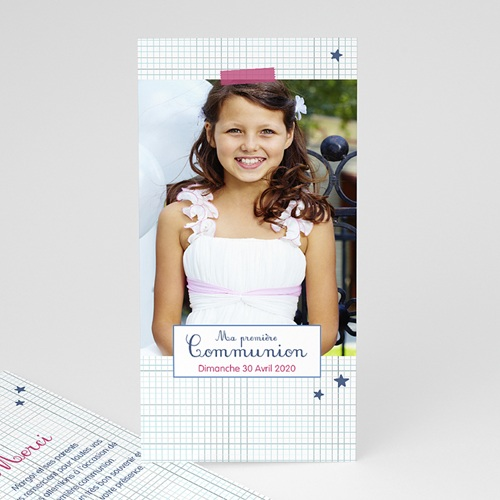 Remerciements Communion Fille - Premier hostie, merci 45924