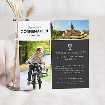 Carte invitation confirmation sacrement et calice à personnaliser