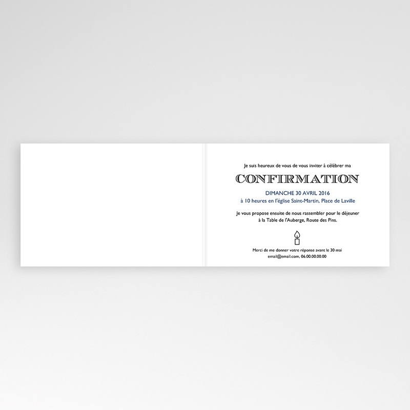 Invitation Confirmation  - Saint Esprit 45955 thumb