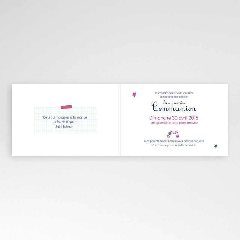 Faire-part Communion Fille - Eucharistie Ecolière 45961 thumb