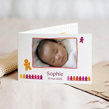 Acheter faire-part naissance fille unicef ribambelle d'enfants