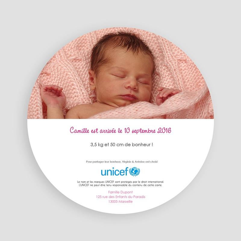 Faire-Part Naissance Fille UNICEF L'été de bébé pas cher