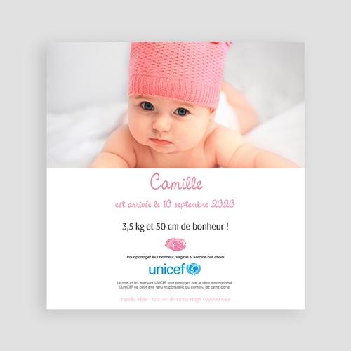 Faire-Part Naissance Fille UNICEF - L'été poudré 46031 preview