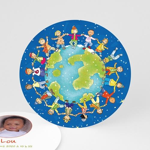 Faire-Part Naissance Fille UNICEF - Ronde enfantine 46033