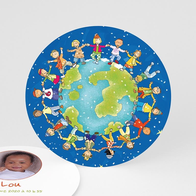 Faire-Part Naissance Fille UNICEF - Ronde enfantine 46033 thumb