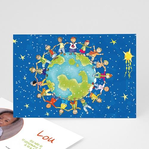Faire-Part Naissance Fille UNICEF - Ronde enfantine 46035 thumb