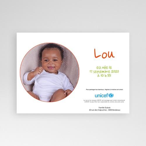 Faire-Part Naissance Fille UNICEF - Ronde enfantine 46036 thumb