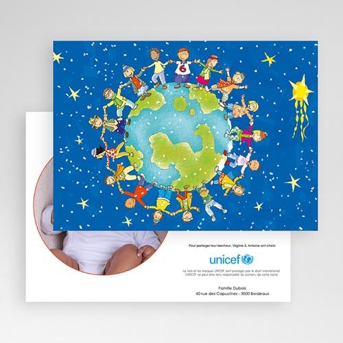 Faire-Part Naissance Fille UNICEF - Ronde enfantine 46037 thumb