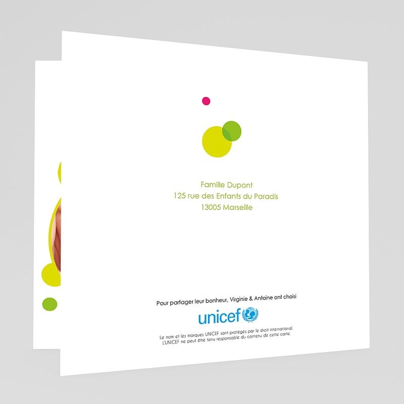 Faire-Part Naissance Fille UNICEF - Mains tendues 46048 thumb