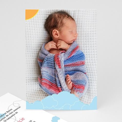 Faire-Part Naissance Fille UNICEF - Piou Rouge 46055 thumb