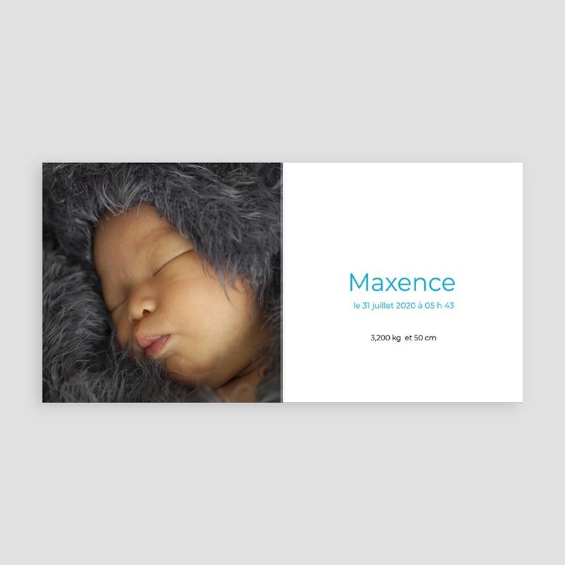 Faire-Part Naissance Garçon UNICEF Pois de senteur Bleu pas cher