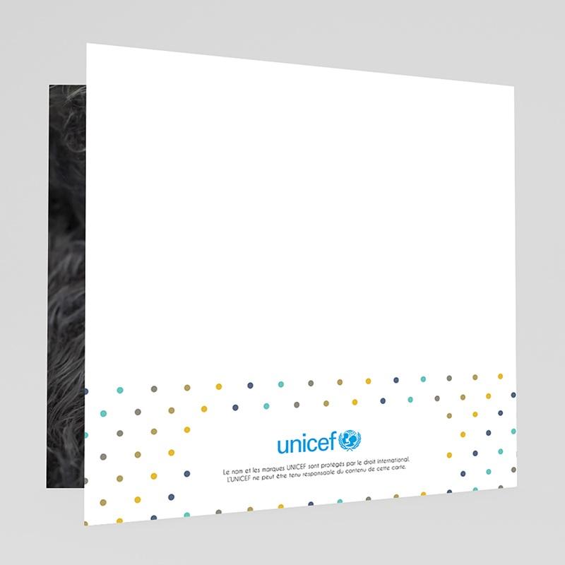 Faire-Part Naissance Garçon UNICEF Pois de senteur Bleu gratuit