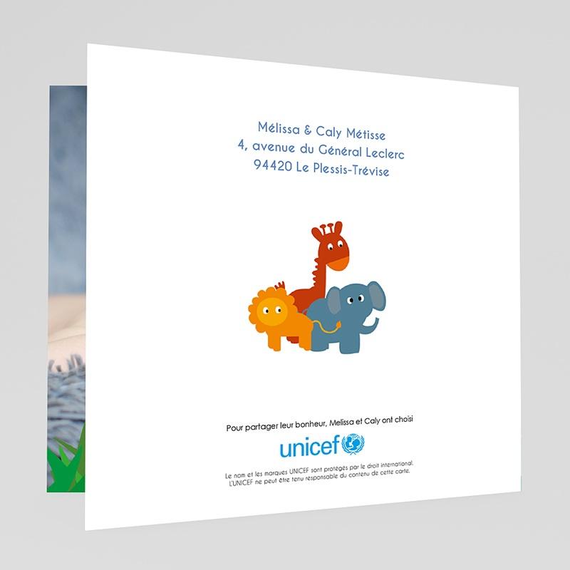 Faire-Part Naissance Garçon UNICEF Safari du coeur gratuit