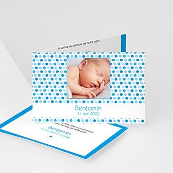 Faire-Part Naissance Garçon UNICEF - Gommettes Bleues - 0