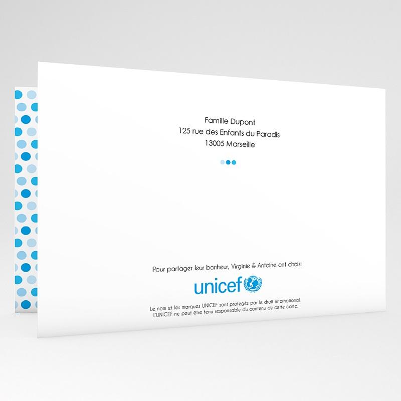 Faire-Part Naissance Garçon UNICEF Gommettes Bleues gratuit