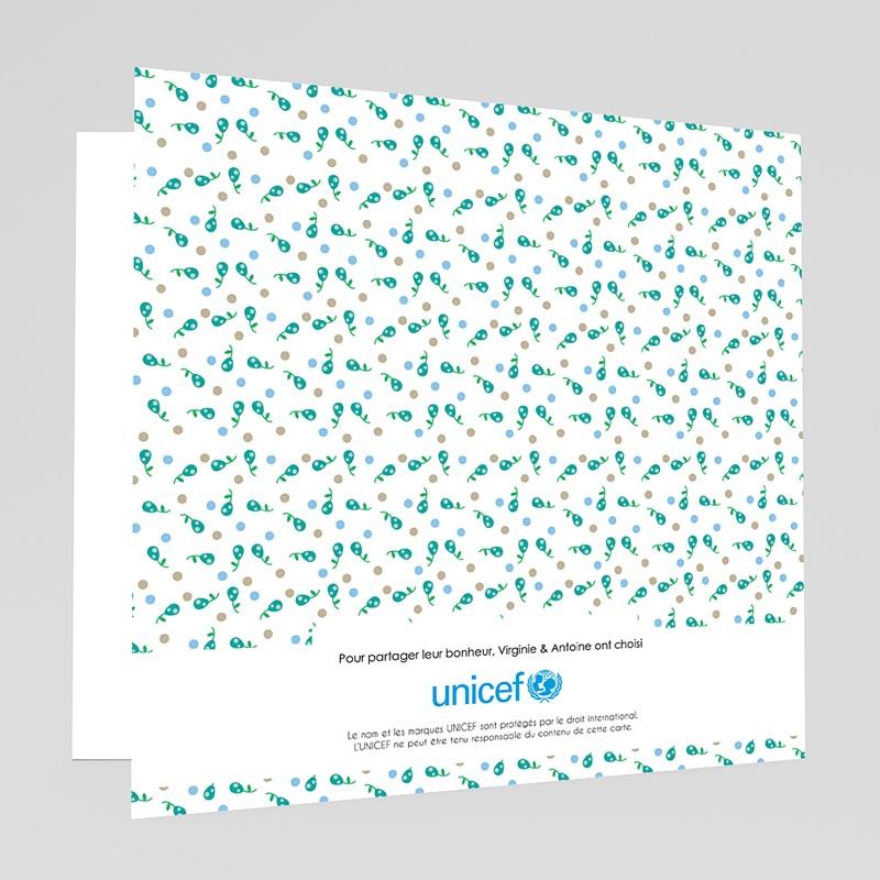 Faire-Part Naissance Garçon UNICEF Liberty Bleu gratuit