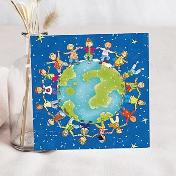 Faire-Part Naissance Garçon UNICEF - Ronde du Monde - 0
