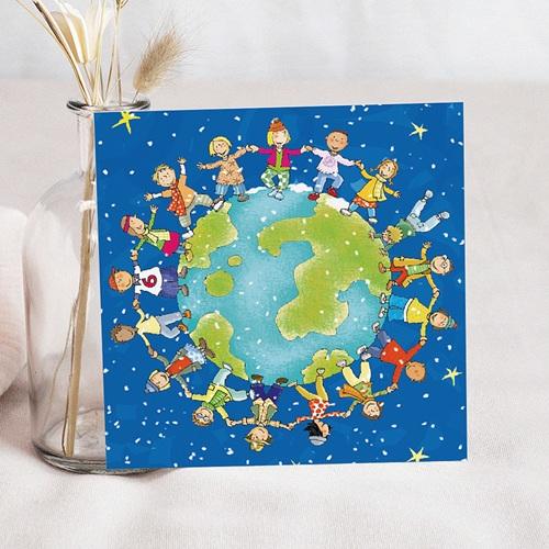 Faire-Part Naissance Garçon UNICEF - Ronde du Monde 46112