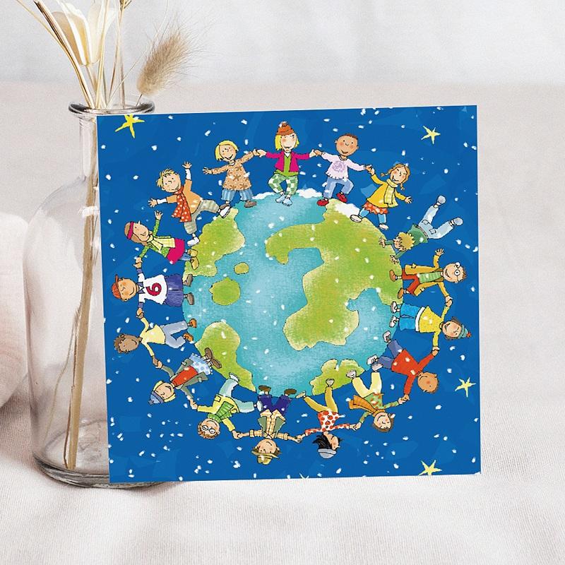 Faire-Part Naissance Garçon UNICEF Ronde du Monde