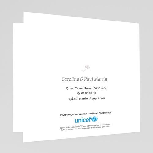 Faire-Part Naissance Garçon UNICEF - Fleurs et plumetis 46131 thumb