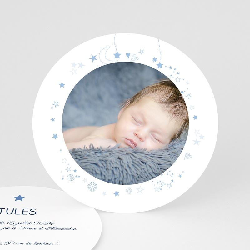 Faire-Part Naissance Garçon UNICEF Bleu Etoilé