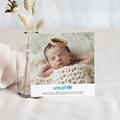 Carte Remerciement Naissance UNICEF Fleurs et plumetis pas cher