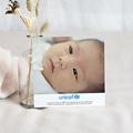 Remerciement Naissance UNICEF - Alphabet Bleu 46143 thumb