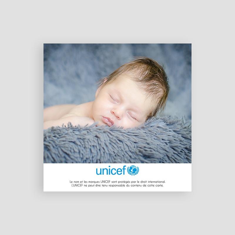 Carte Remerciement Naissance UNICEF Safari du coeur pas cher