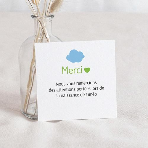 Carte Remerciement Naissance UNICEF Nuage Bleu