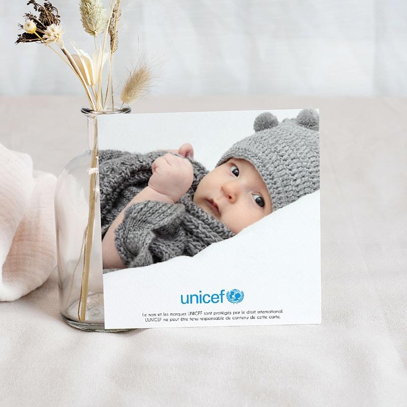 Carte Remerciement Naissance UNICEF Clair de Lune pas cher