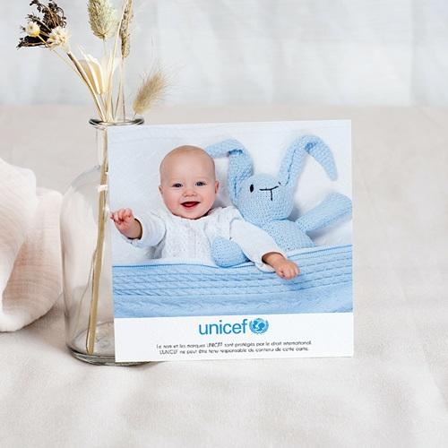 Remerciement Naissance UNICEF - Liberty Bleu 46179 preview
