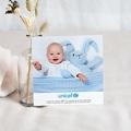 Carte Remerciement Naissance UNICEF Liberty Bleu pas cher