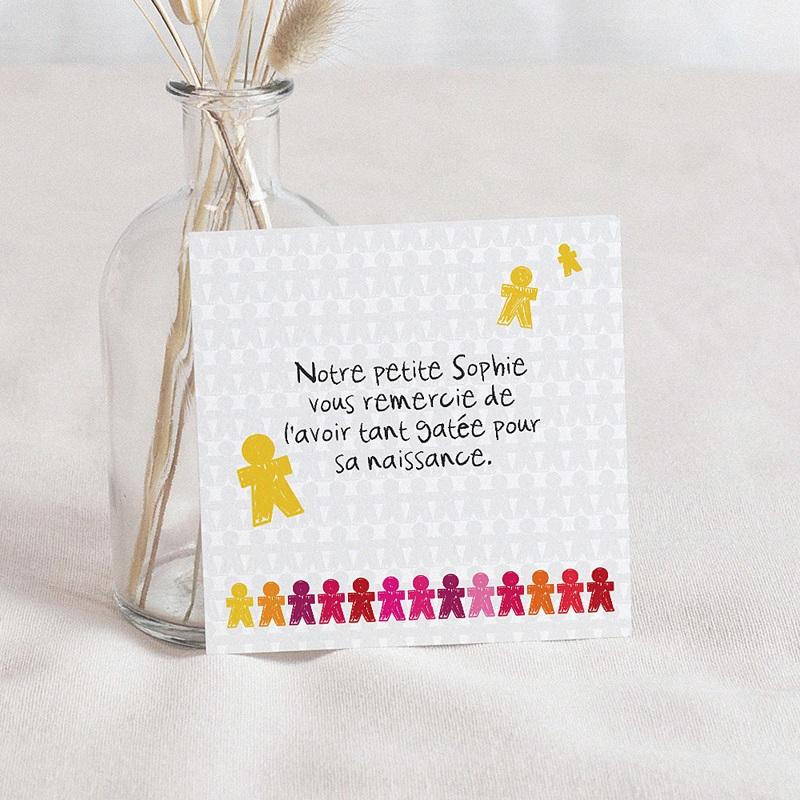Remerciement Naissance UNICEF - Ribambelle d'enfants 46184 thumb