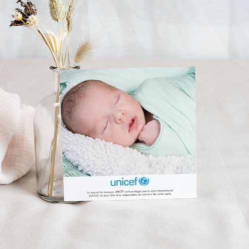 Remerciement Naissance UNICEF - Petites Fleurs Bleues 46196 preview