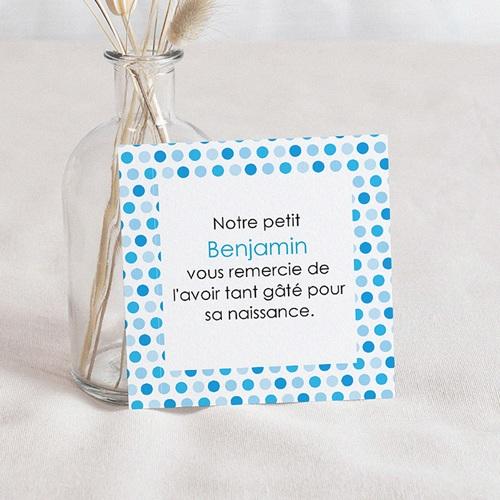 Remerciement Naissance UNICEF - Gommettes Bleues 46204