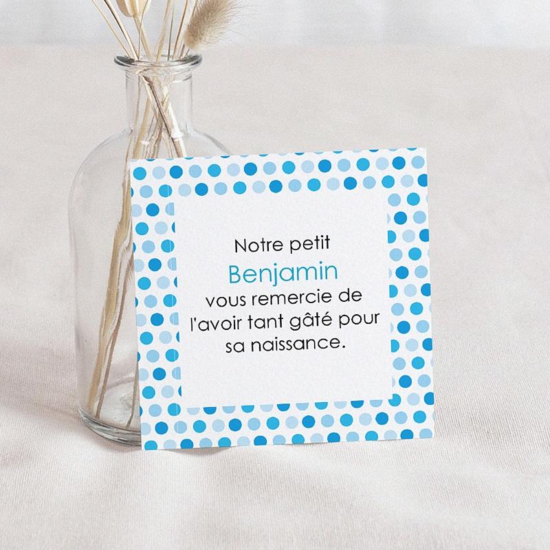 Remerciement Naissance UNICEF - Gommettes Bleues 46204 thumb