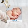 Remerciement Naissance UNICEF - Gommettes Bleues 46205 thumb